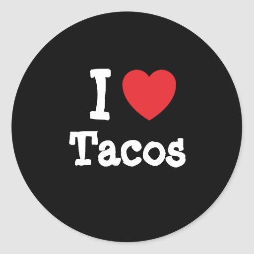 I love Tacos heart T-Shirt Stickers