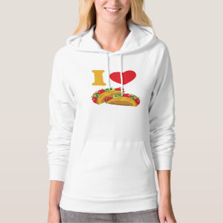 I Love Tacos Hooded Pullover