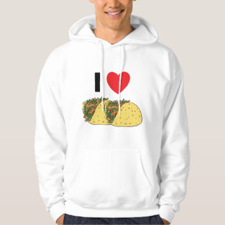 I Love Tacos Hooded Sweatshirt