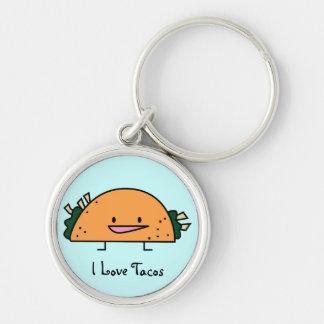 I Love Tacos Keychain Keychain