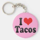 I Love Tacos Keychain