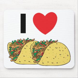I Love Tacos Mouse Pad