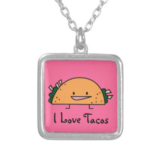 I Love Tacos Necklace