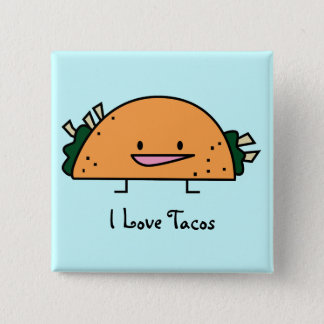 I Love Tacos Pin Button
