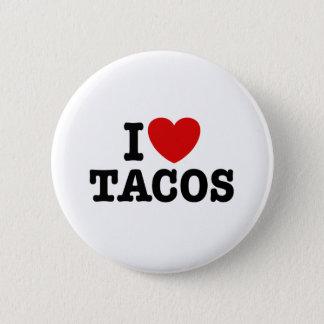 I Love Tacos Pinback Button