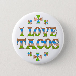 I Love Tacos Pinback Button