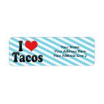 I Love Tacos Return Address Label
