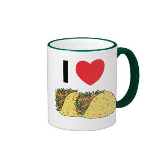 I Love Tacos Ringer Coffee Mug
