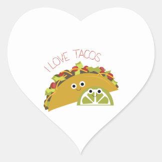 I Love Tacos Heart Sticker