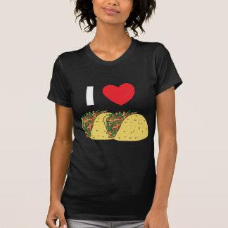 I Love Tacos Woman's Dark T-Shirt
