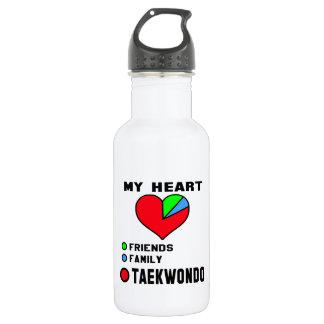 I love Taekwondo. 18oz Water Bottle
