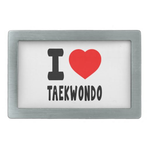 I Love Taekwondo Belt Buckles