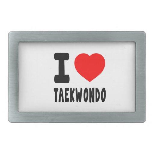 I Love Taekwondo Belt Buckle