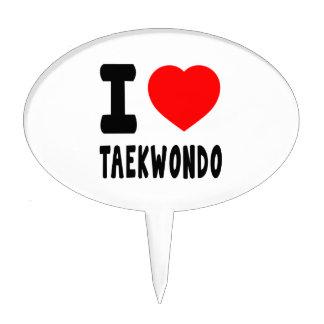 I Love Taekwondo Cake Pick