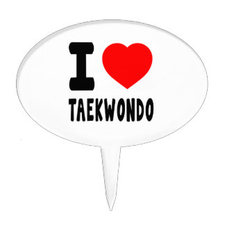 I Love Taekwondo Cake Toppers