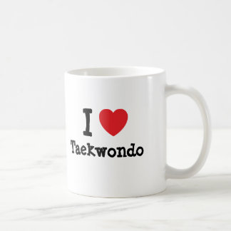 I love Taekwondo heart custom personalized Coffee Mug