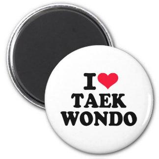 I love Taekwondo Fridge Magnets