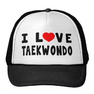 I Love Taekwondo Martial Arts Hats