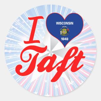 I Love Taft, Wisconsin Classic Round Sticker