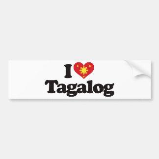 I Love Tagalog Bumper Sticker