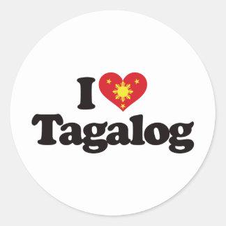 I Love Tagalog Classic Round Sticker