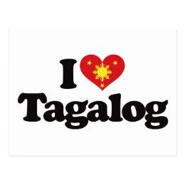 I tagalog cards greeting photo cards zazzle i love tagalog postcard m4hsunfo