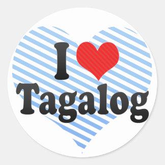 I Love Tagalog Stickers