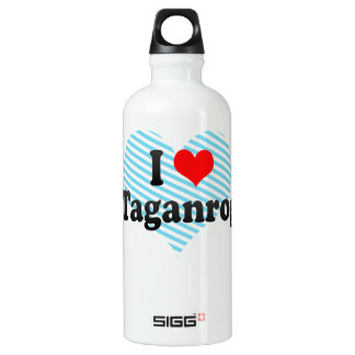 I Love Taganrog, Russia Water Bottle