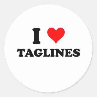 I Love Taglines Sticker