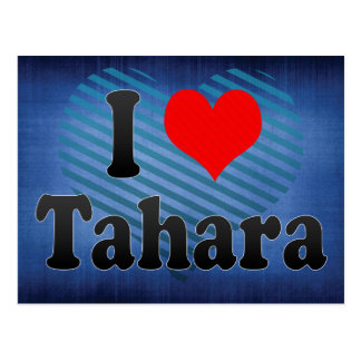 I Love Tahara, Japan Postcard