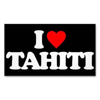 I LOVE TAHITI MAGNETIC BUSINESS CARD