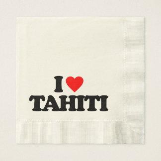 I LOVE TAHITI PAPER NAPKIN