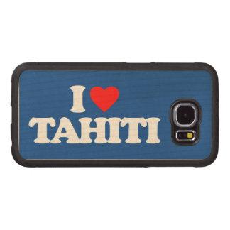 I LOVE TAHITI WOOD PHONE CASE