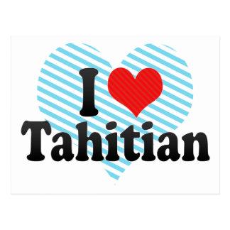 I Love Tahitian Post Card