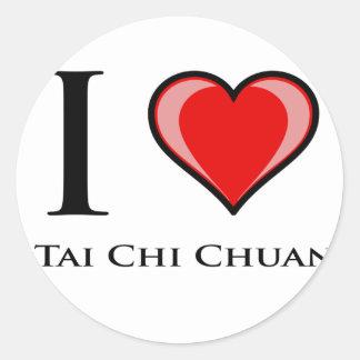 I Love Tai Chi Chuan Classic Round Sticker
