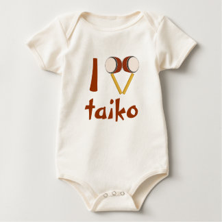 I Love Taiko Drumming Japanese Drums for Babies Baby Bodysuit