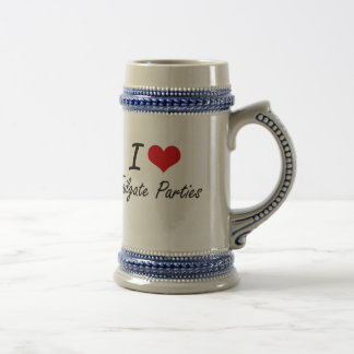 I love Tailgate Parties 18 Oz Beer Stein