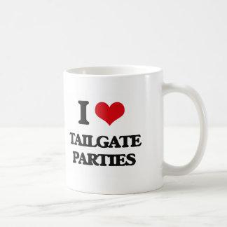 I love Tailgate Parties Classic White Coffee Mug