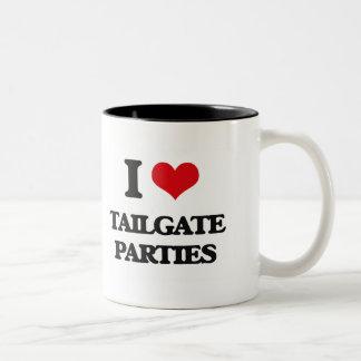 I love Tailgate Parties Two-Tone Coffee Mug