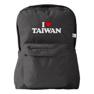 I LOVE TAIWAN AMERICAN APPAREL™ BACKPACK