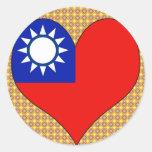 I Love Taiwan Classic Round Sticker
