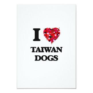 I love Taiwan Dogs 3.5x5 Paper Invitation Card