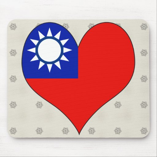 I Love Taiwan Mouse Pad