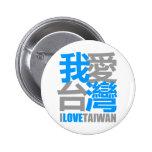 I Love TAIWAN version 2 : designed by Kanjiz Pinback Button