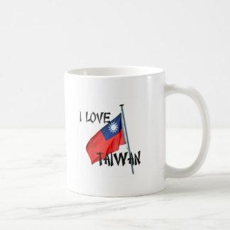 I Love Taiwan with Flag Classic White Coffee Mug