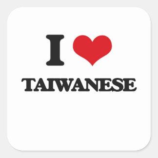 I love Taiwanese Square Sticker