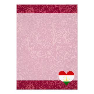 """I Love Tajikistan 5"""" X 7"""" Invitation Card"""