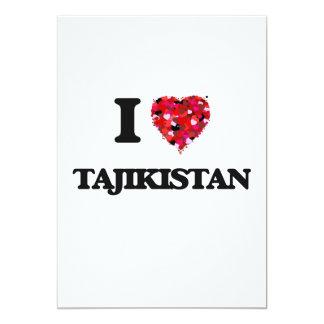 I Love Tajikistan 5x7 Paper Invitation Card