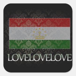 I love Tajikistan Cool Square Sticker