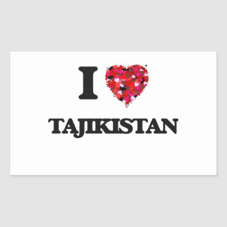 I Love Tajikistan Rectangular Sticker